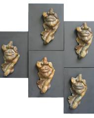 Faces (5 relief pieces)